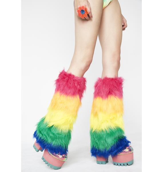Technocolor Trippin' Fuzzy Boot Covers