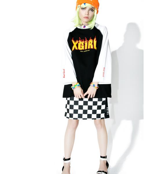 x-Girl Flame Logo Tee