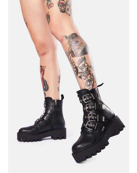 Baddie Buckle Boots