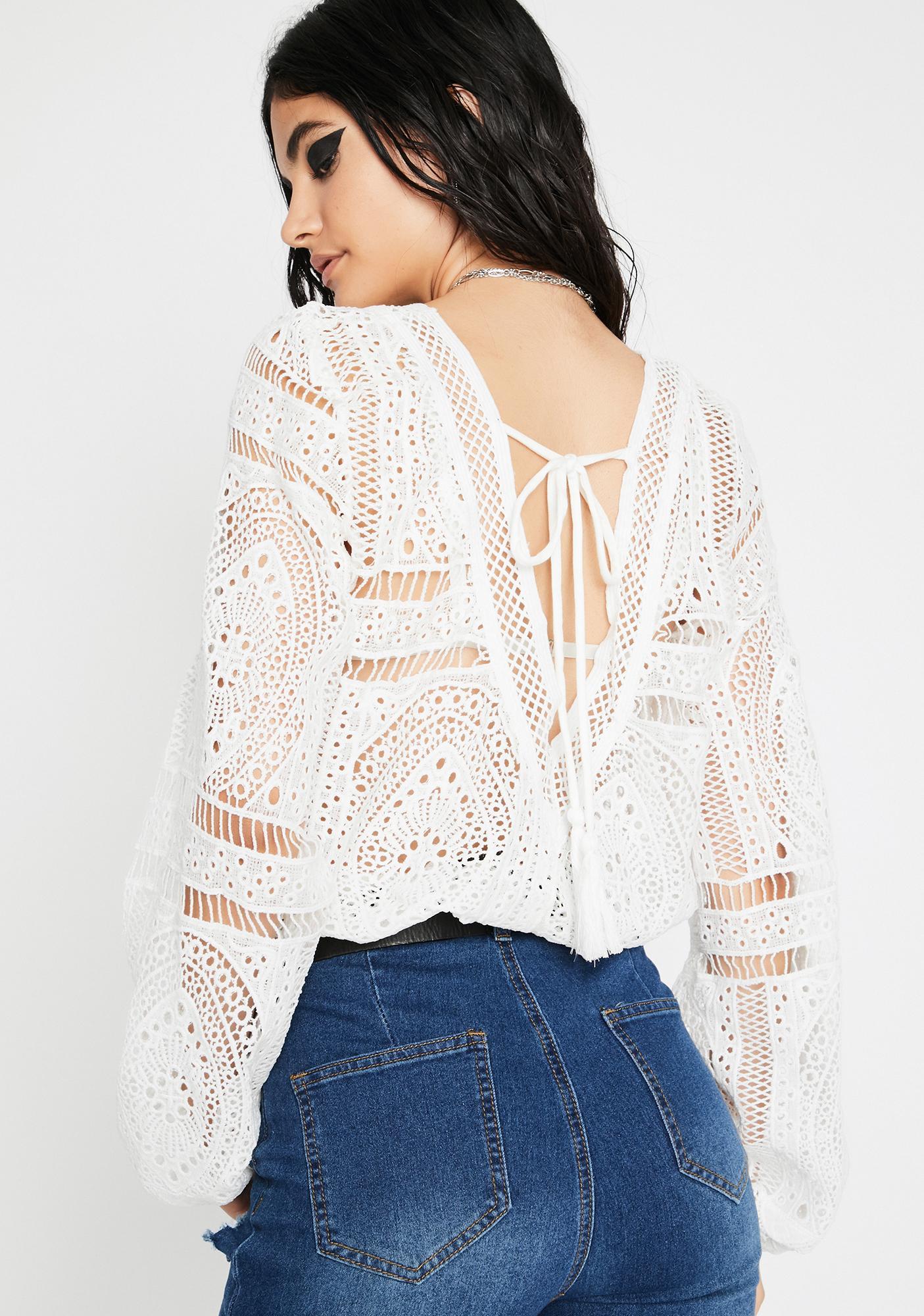 Magnolia Inner Spirit Crochet Bodysuit
