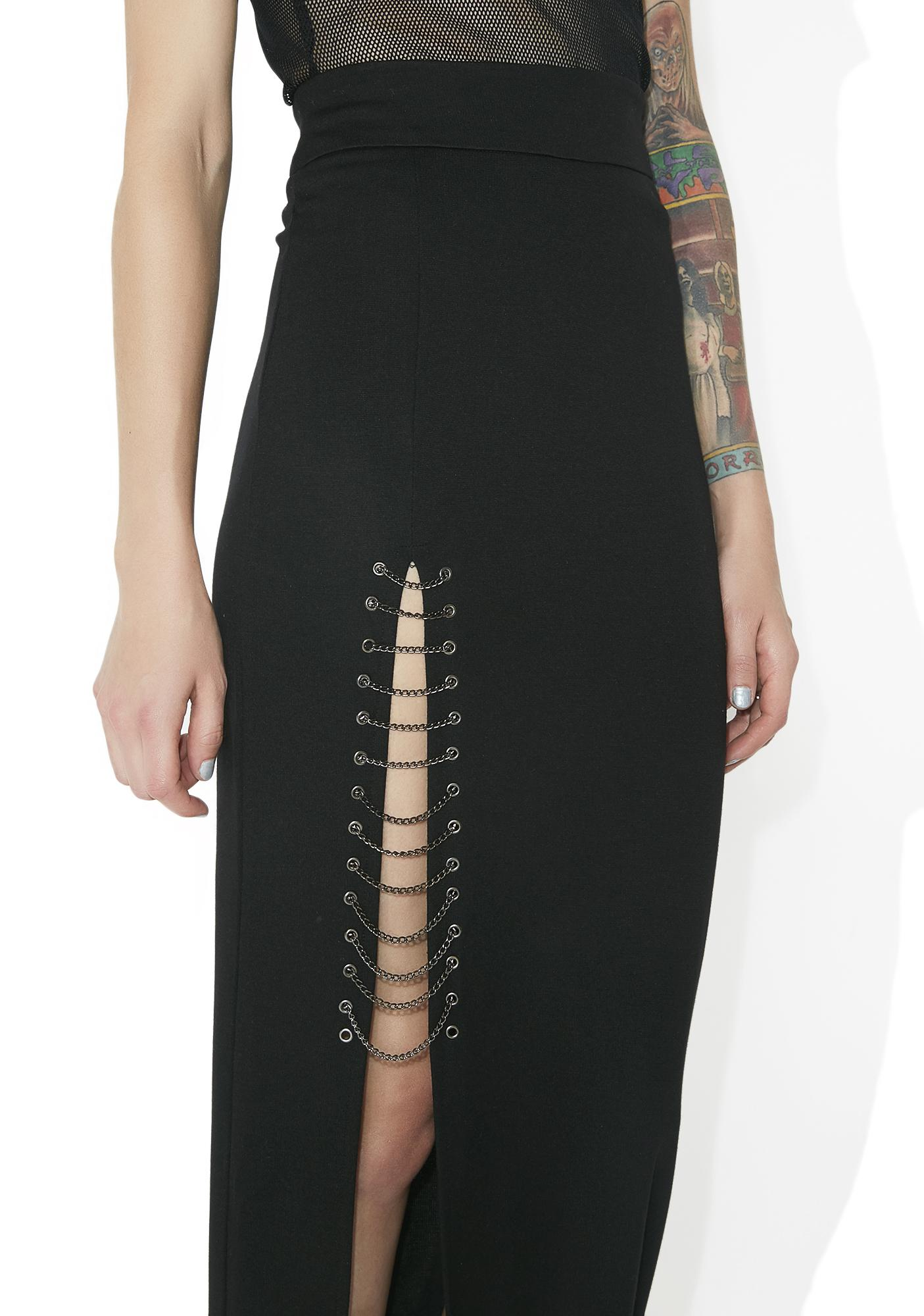 Pretty Reckless Chained Maxi Skirt