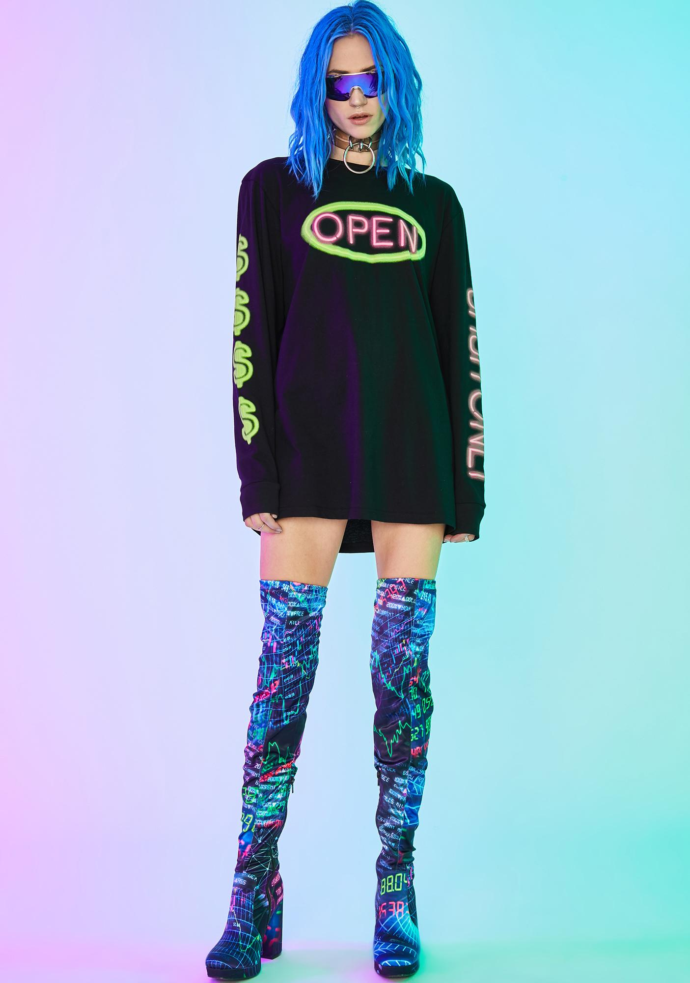 Current Mood Open For Business Graphic Tee