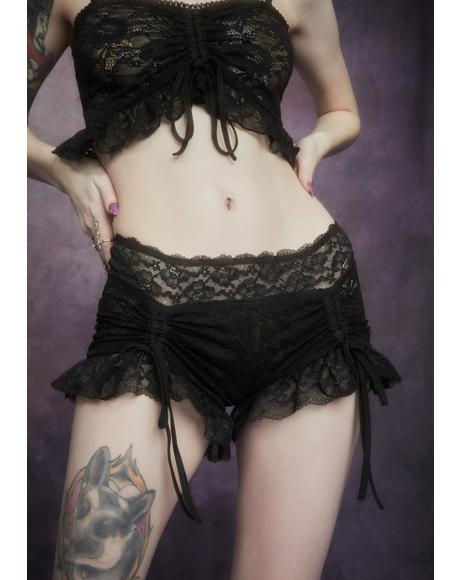Nettles And Nectar Ruffle Lace Shorts