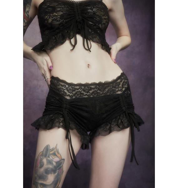 Widow Nettles And Nectar Ruffle Lace Shorts