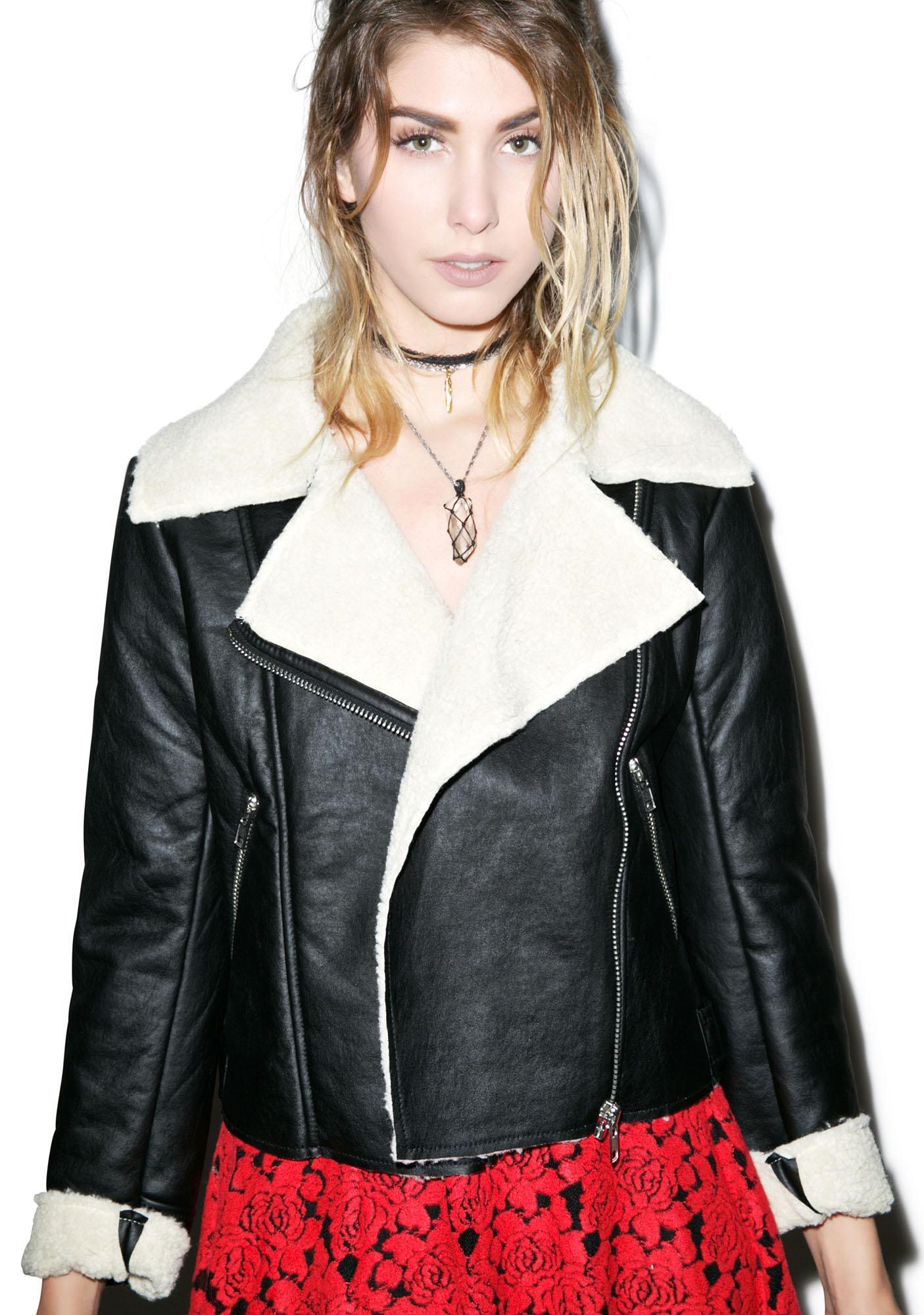 Glamorous Woman Of The Shear Shearling Jacket