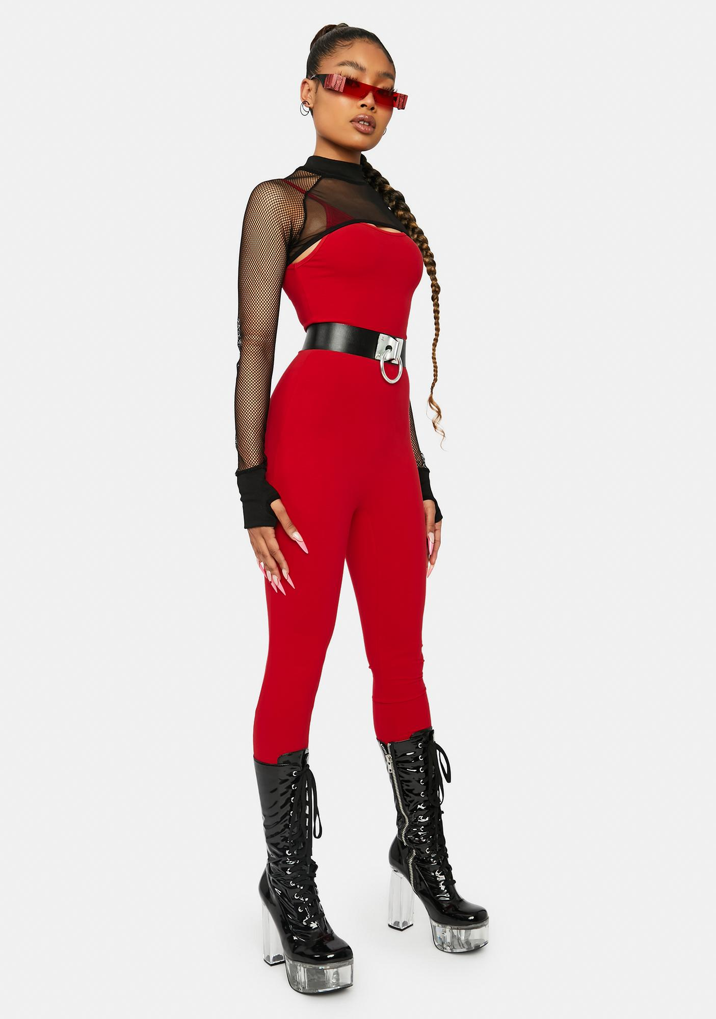 Cherry Nothing To Hide Catsuit