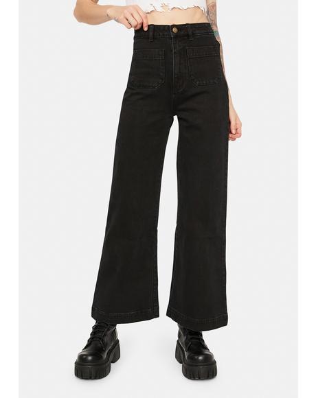 Comfort Jet Black Sailor Jeans