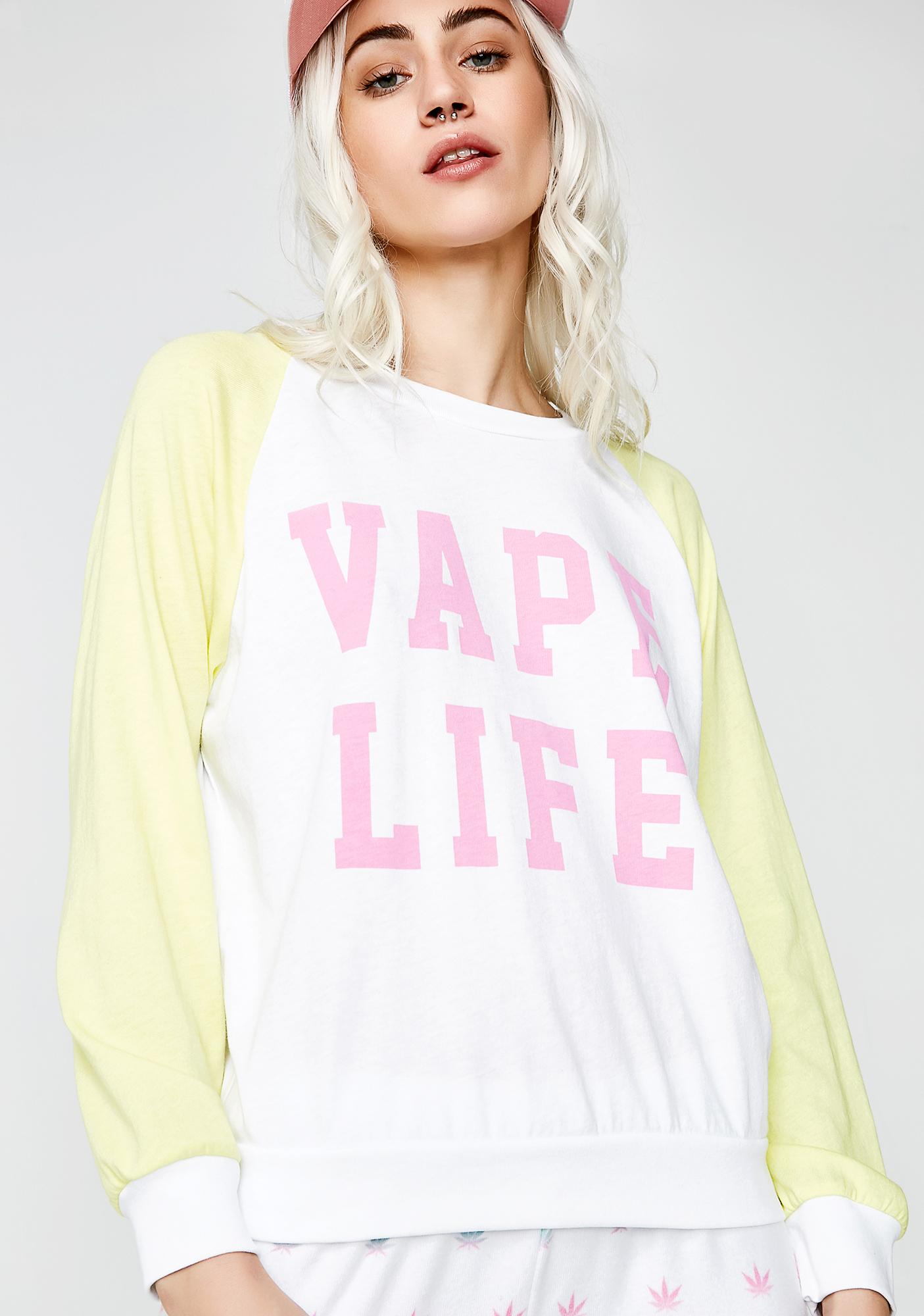 Wildfox Couture Vape Life Junior Sweatshirt