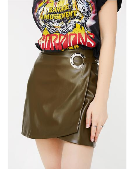 Got It On Lock Wrap Skirt