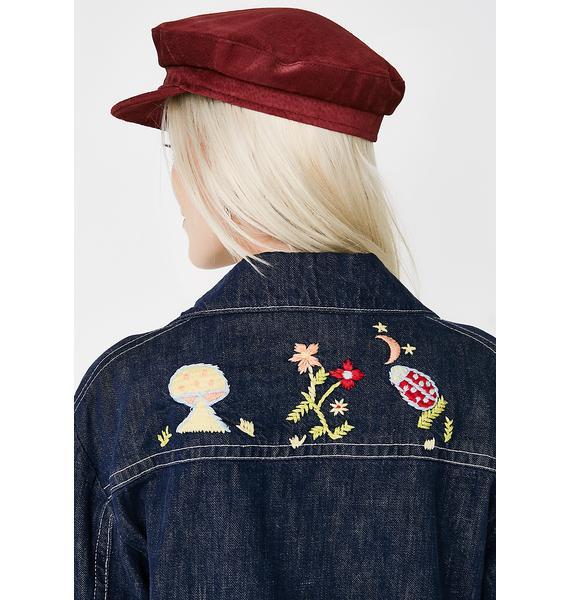 Vintage 70s Embroidered Denim Jacket
