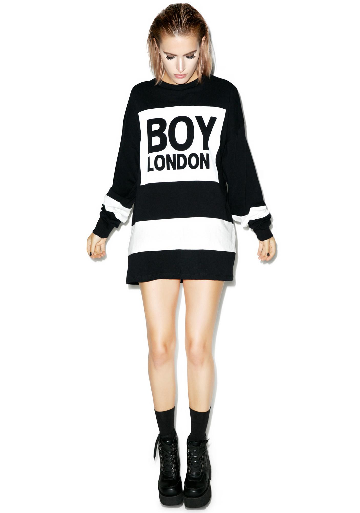 BOY London Eagle Boy Box Striped Top