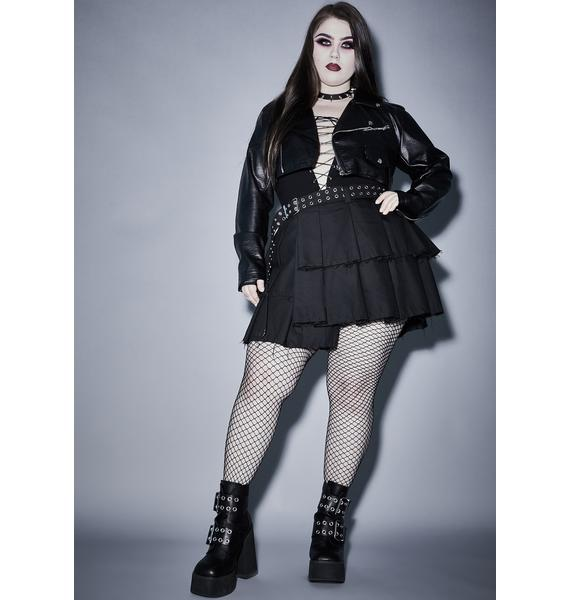 Widow Wicked Killer Fright Night Mini Skirt