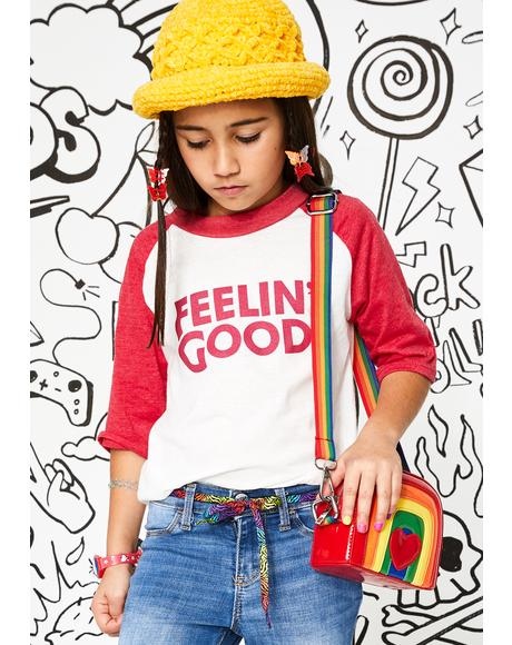 Kids Feelin Good Raglan Tee