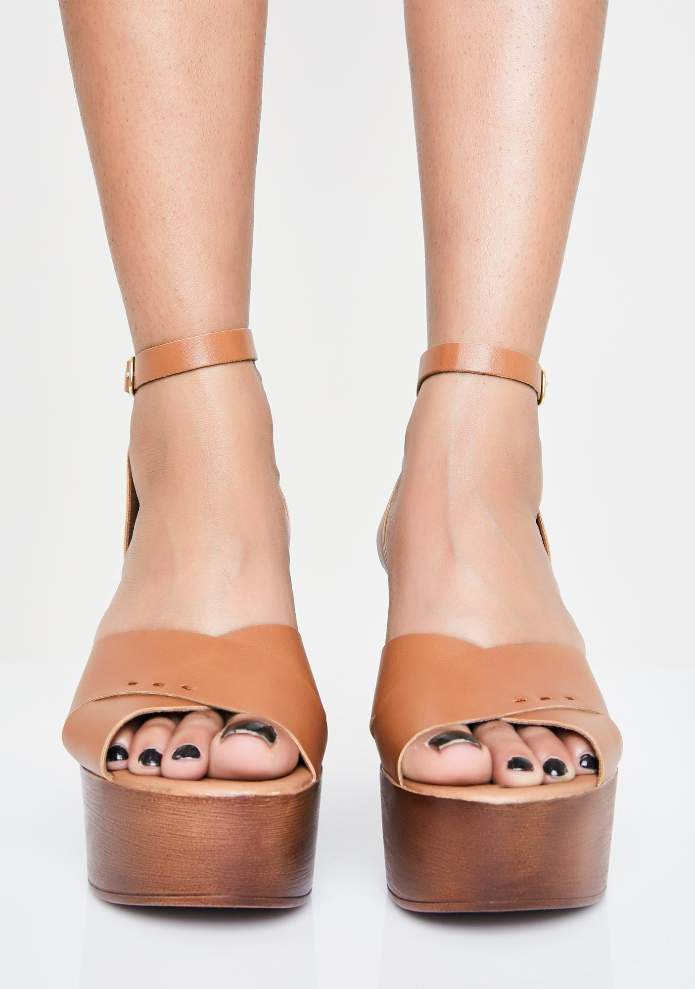 Hazel Top Timber Platform Heels