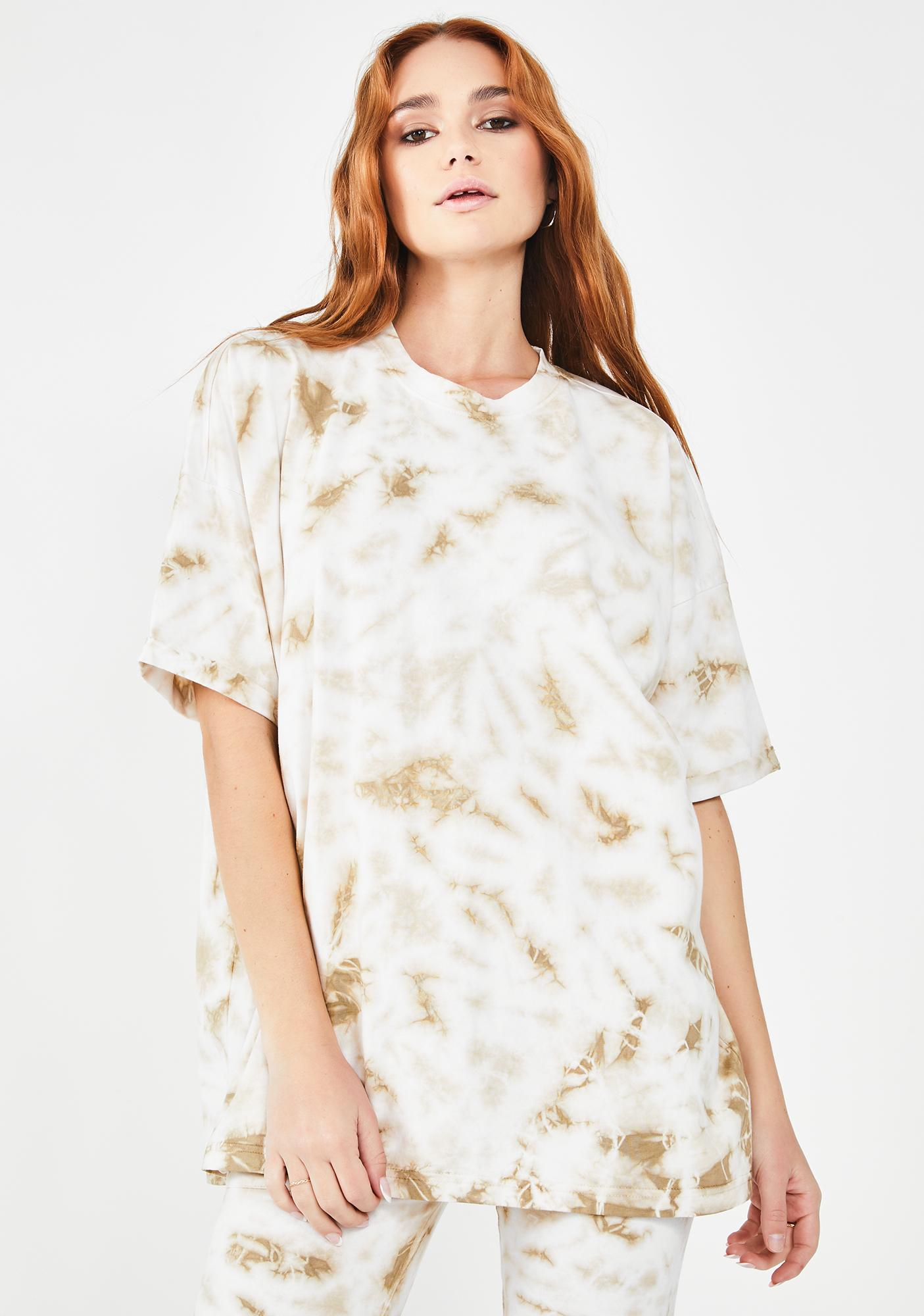 Public Desire Tie Dye Drop Shoulder T-Shirt