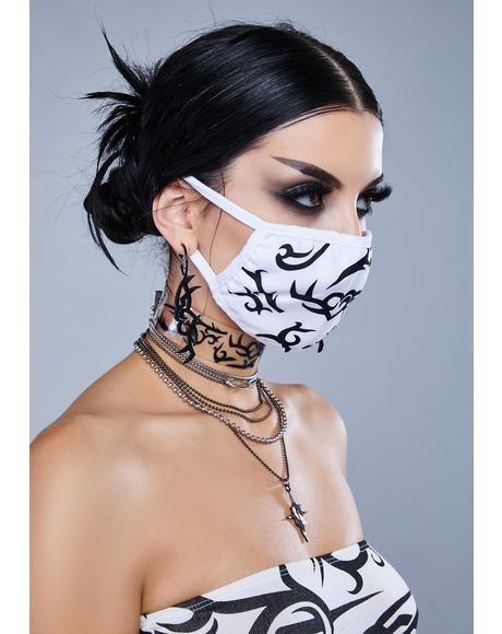 Kickdrum Tattoo Print Face Mask