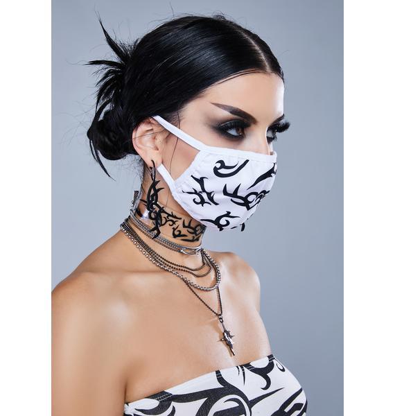 Kickdrum Tattoo Print Face Mask