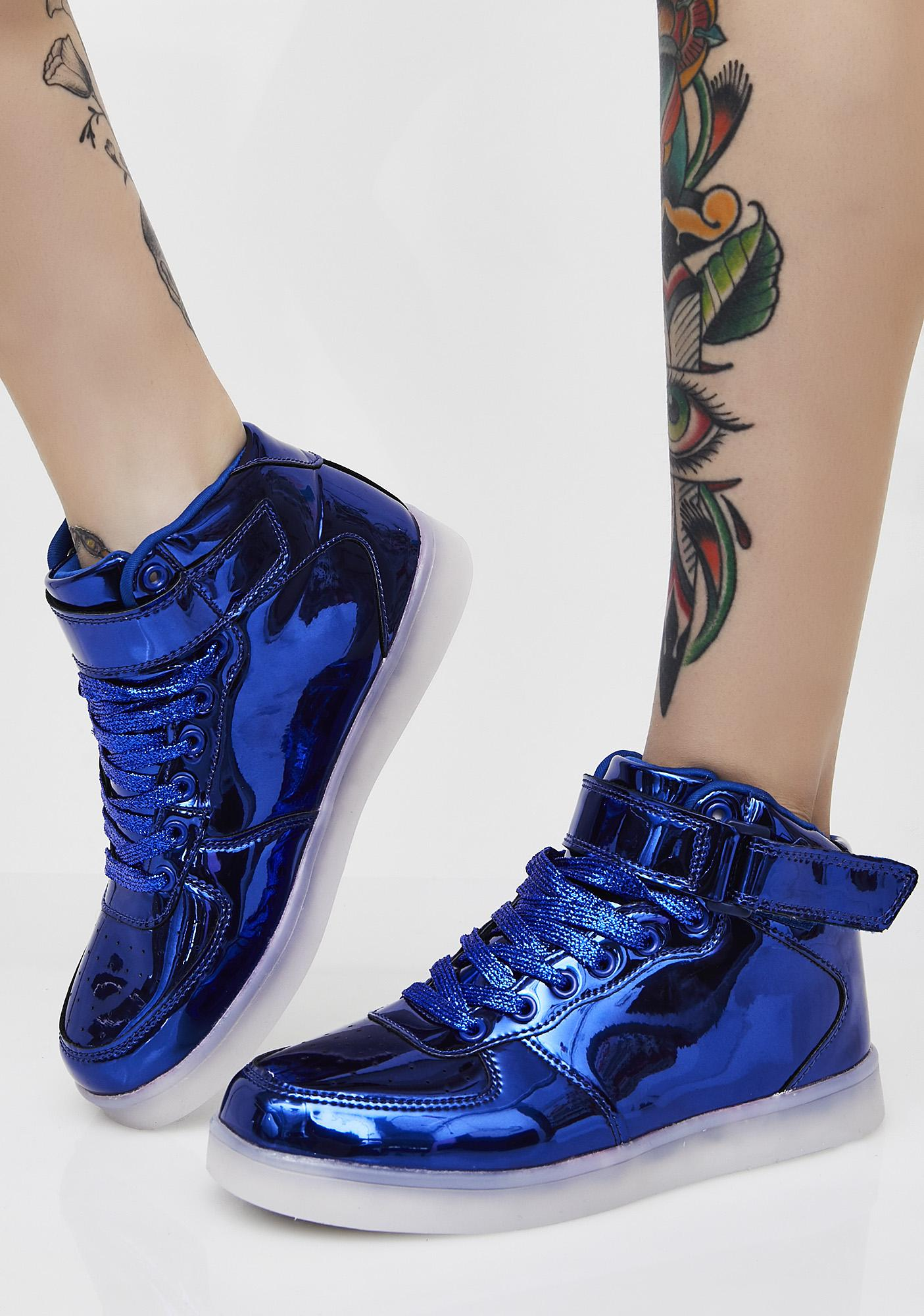 Sapphire Chrome Invader Light Up Sneakers