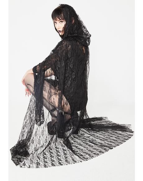 Night Mistress Lace Cape