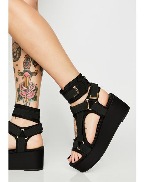 Insta Gossip Platform Sandals