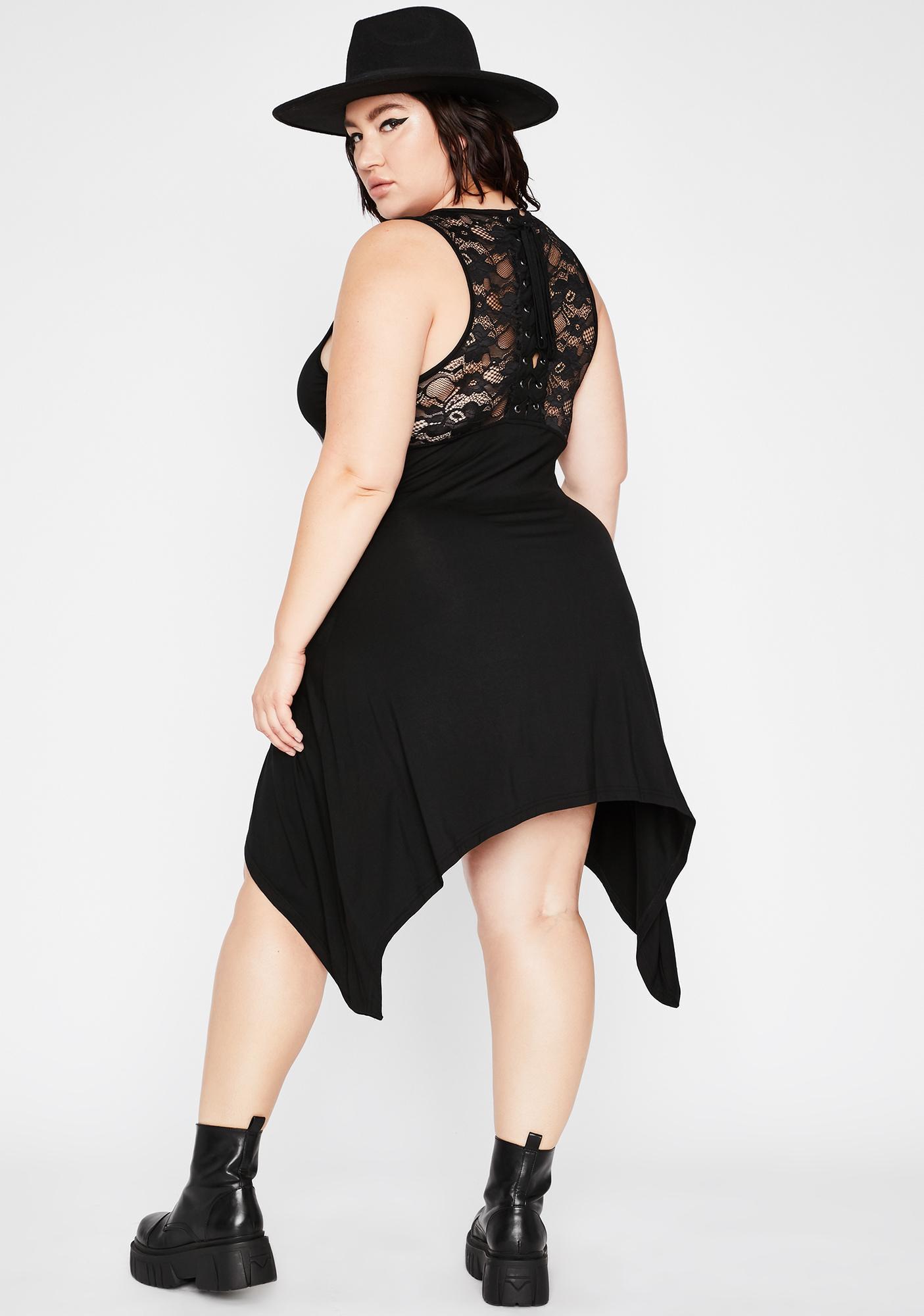 Killstar Plus Goddess Lace-Up Tunic