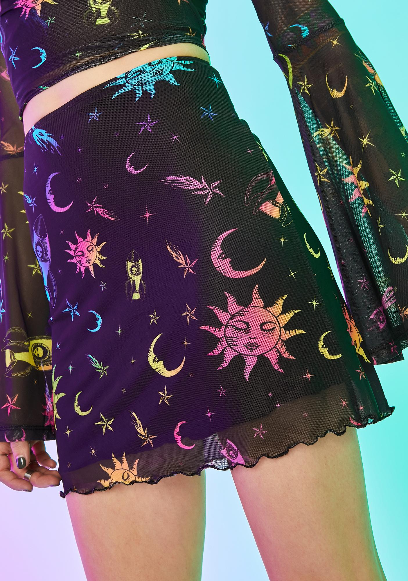Celestial Magic Mesh Skirt by Current Mood