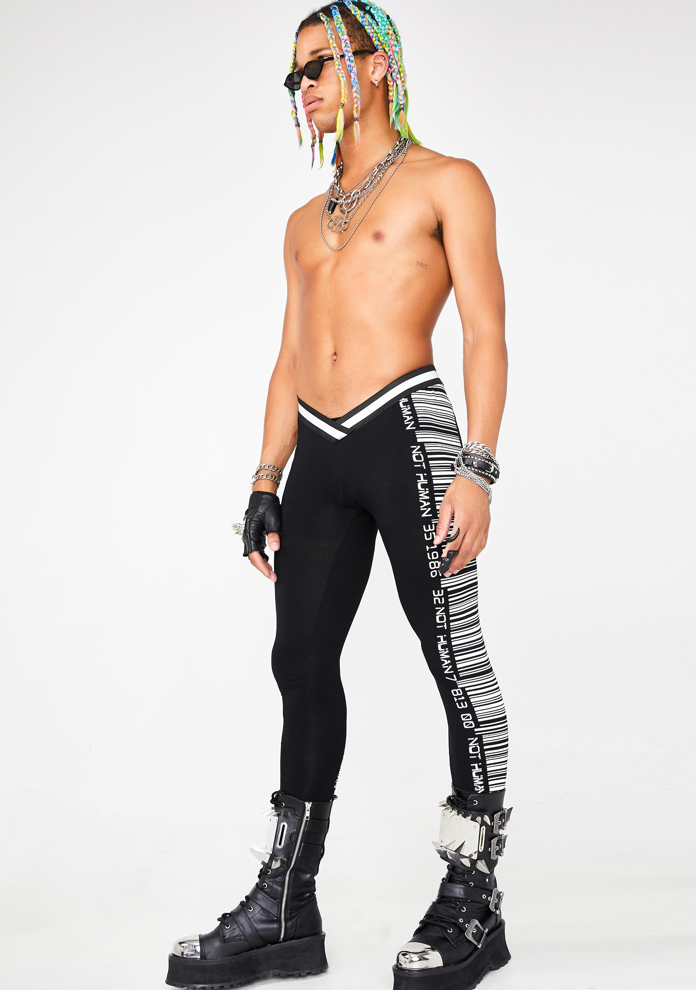 Club Exx Scan Me Up Reflective Leggings