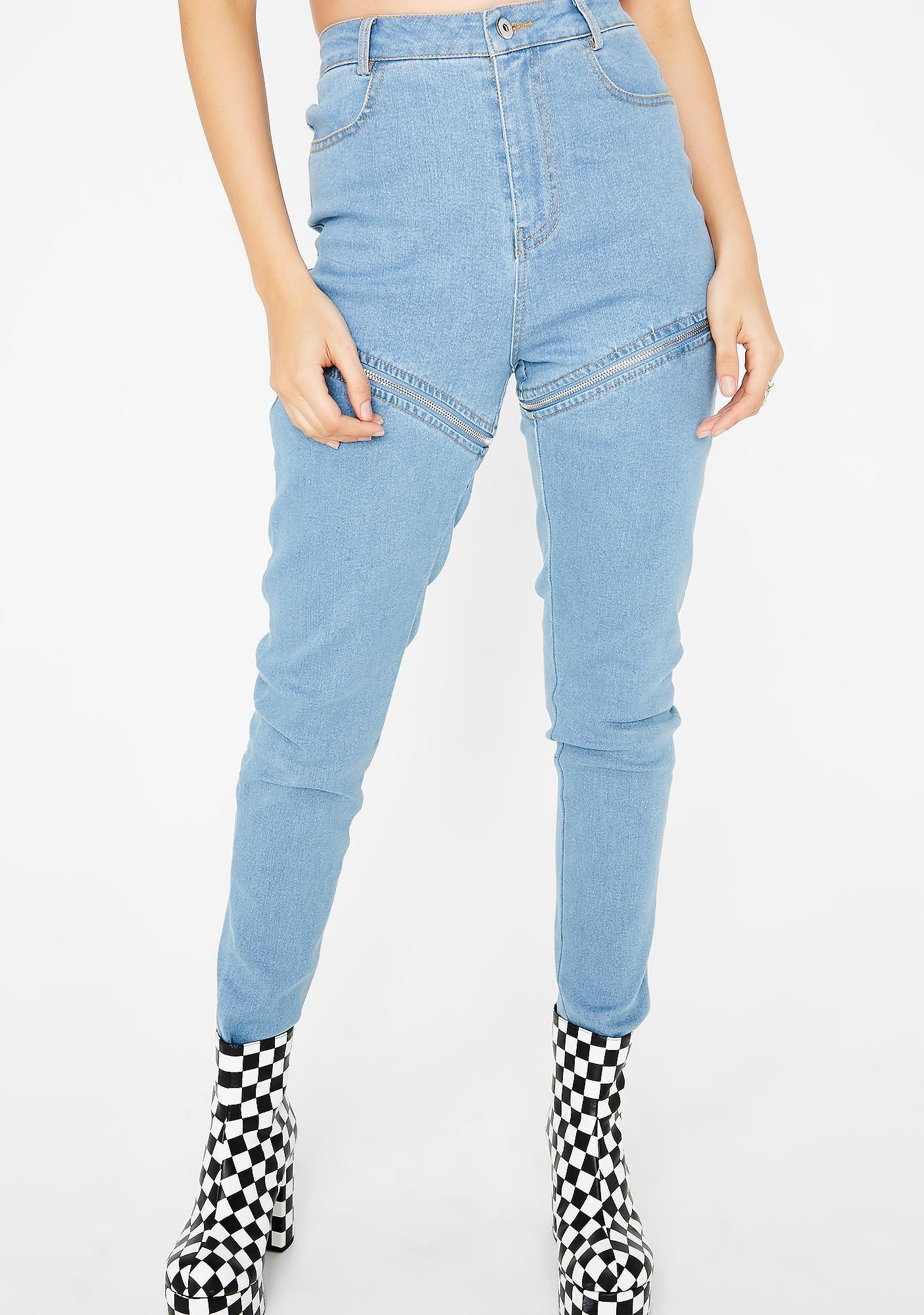 Either Way Zip Jeans