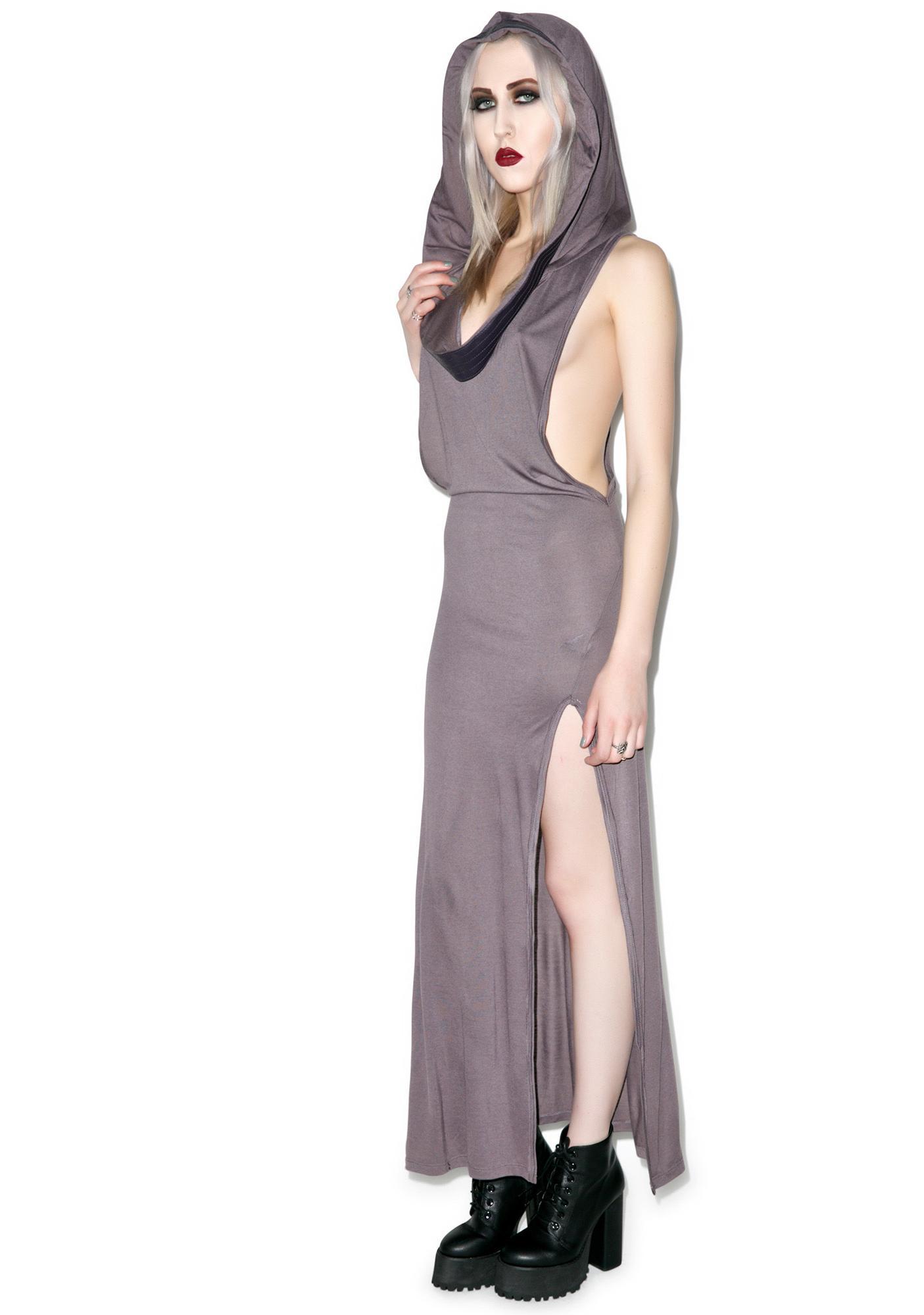 Lip Service Badlands Hooded Cowl Neck Dress