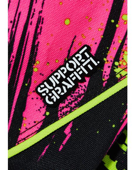 Support Graffiti Pin