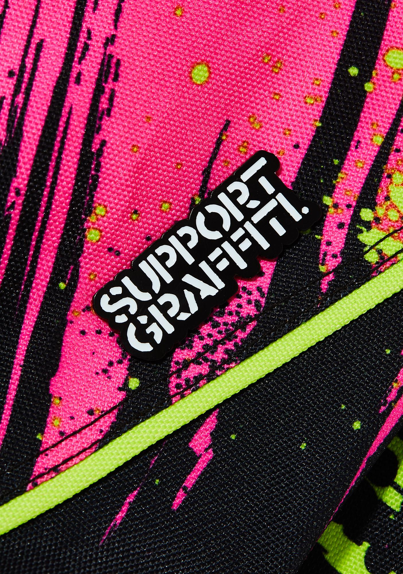 Learn To Forget Support Graffiti Pin