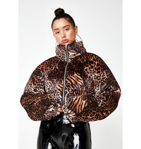 Tiger Mist Remy Puffer Jacket