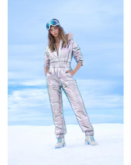 Aurora Beam Holographic Snowsuit