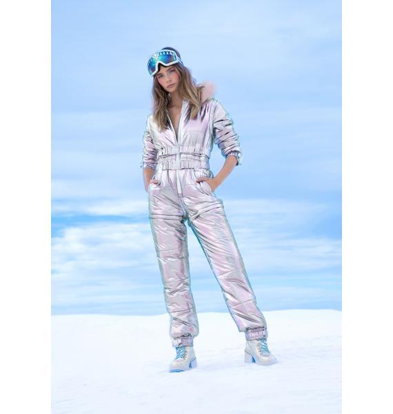 Club Exx Aurora Beam Holographic Snowsuit