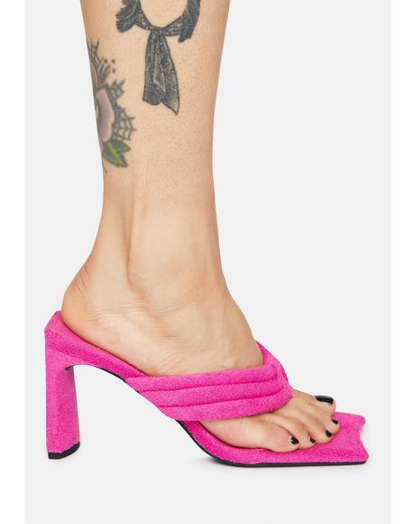 Resort Thong Heeled Mules