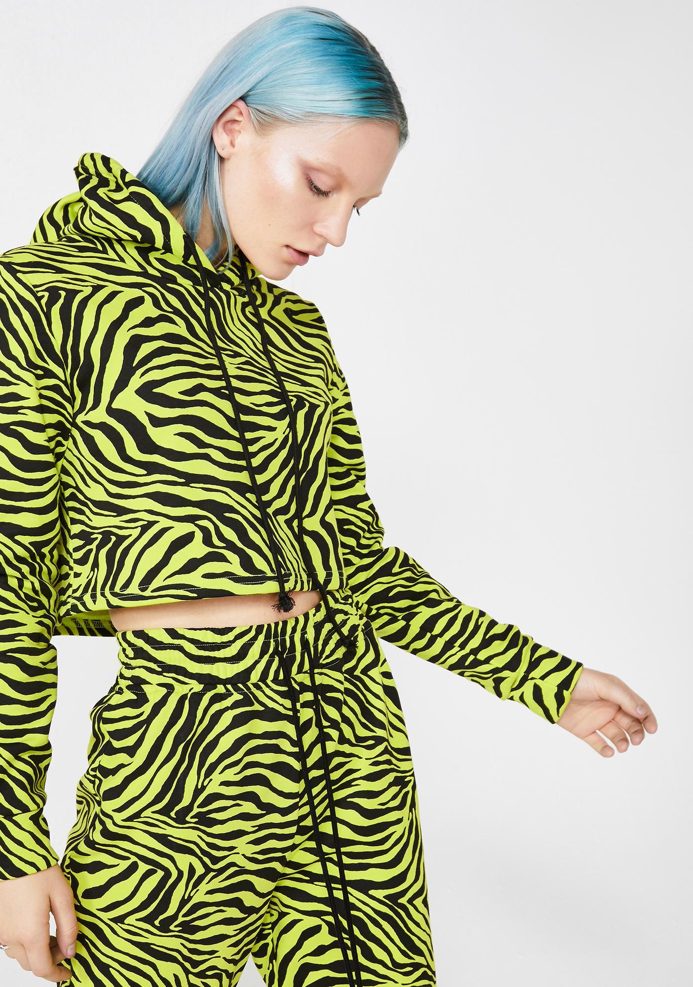 Radioactive Jungle Zebra Hoodie