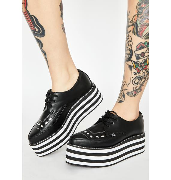 T.U.K. Pointed Striped Stack Creepers
