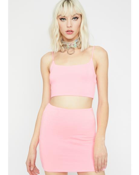 Beamin' Baddie Skirt Set