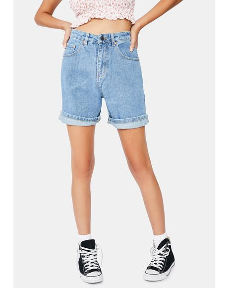 Dad Denim Shorts