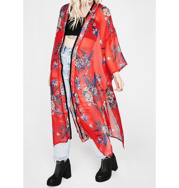 Sweet Paradise Floral Kimono