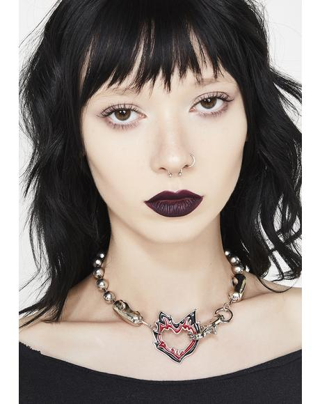 Raised In Hell Heart Choker