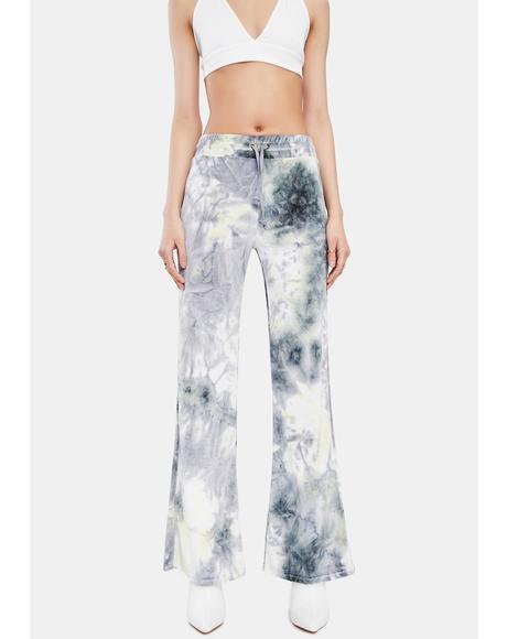 Tie Dye Velour Track Pants