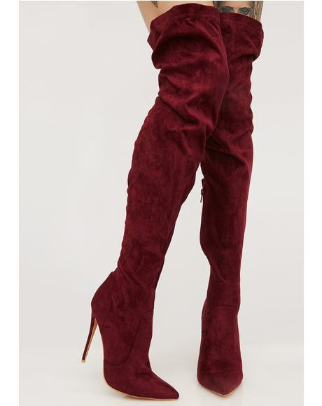 Sonar Over The Knee Boots