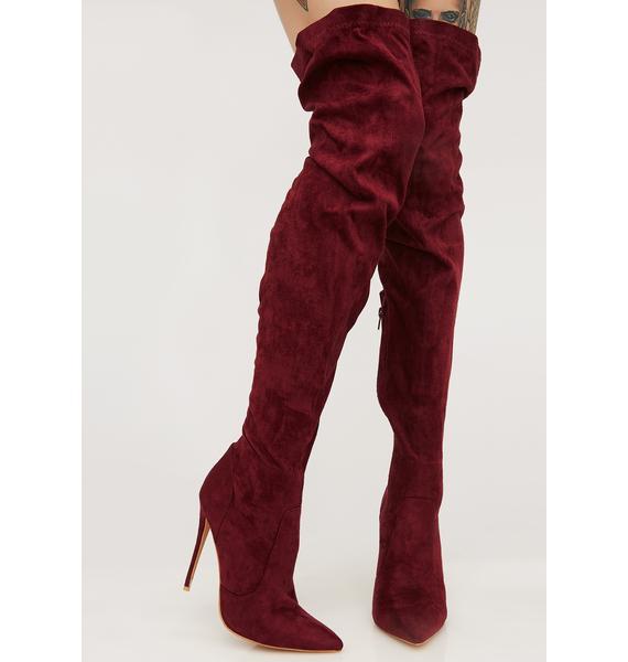 Public Desire Sonar Over The Knee Boots
