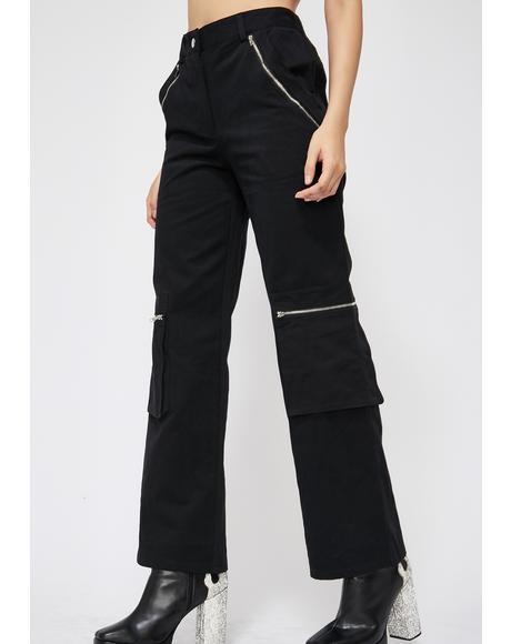 Digital Wave Cargo Pants