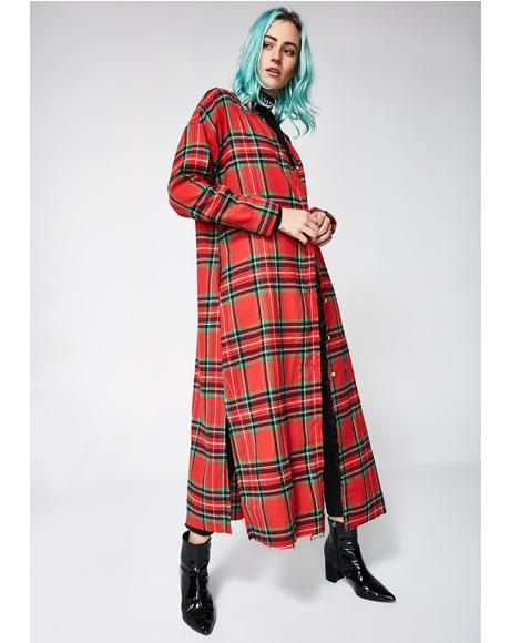 Holiyay Plaid Duster