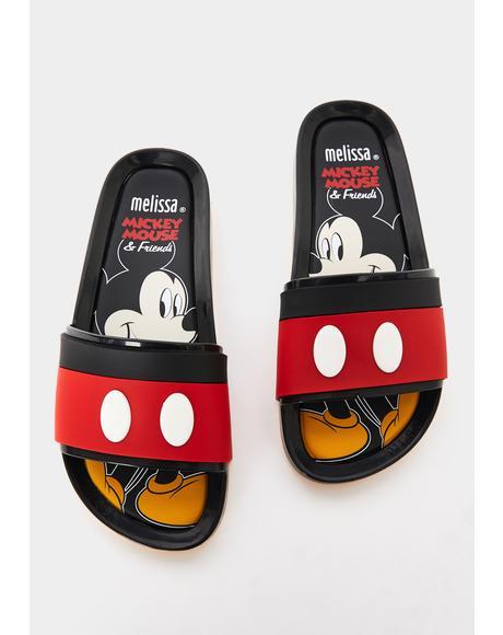 Mickey N' Friends Slide Sandals