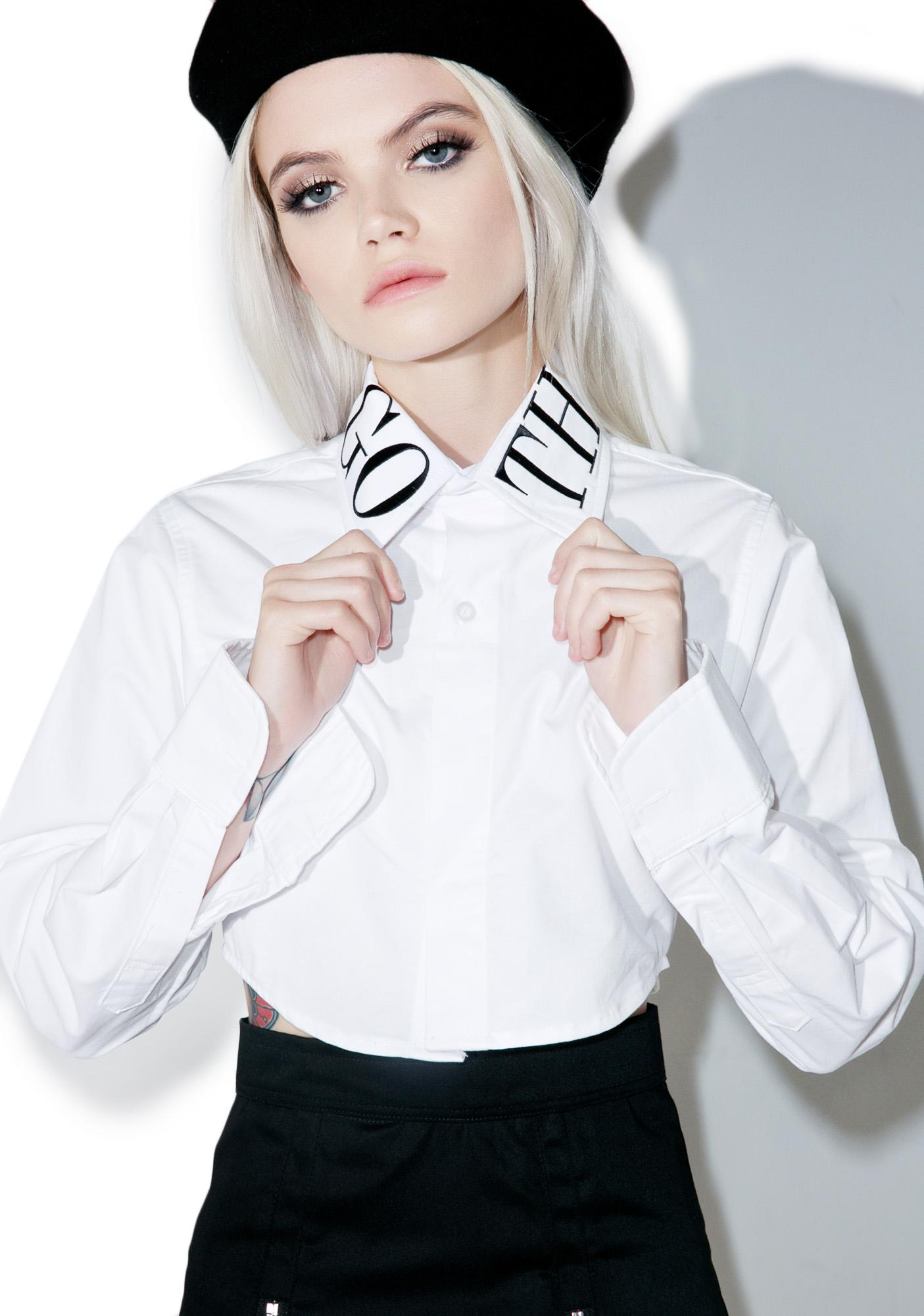Morph8ne Goth Class Crop Shirt