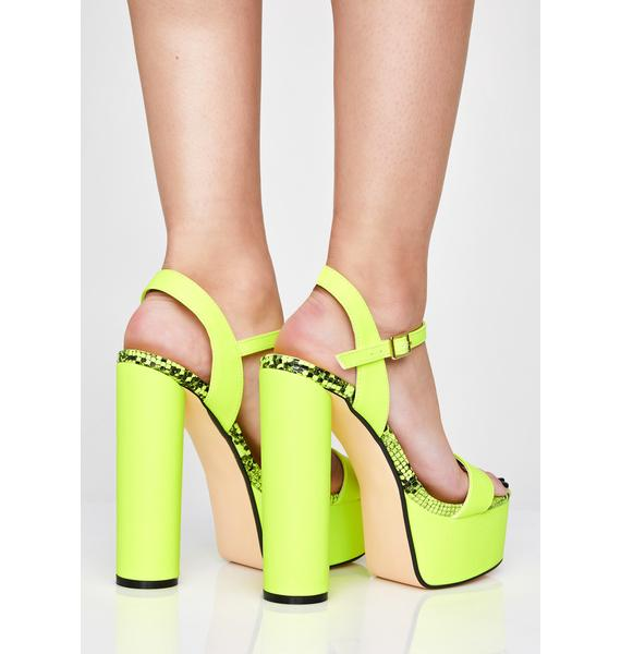 Neon Poisoned Lover Platform Heels