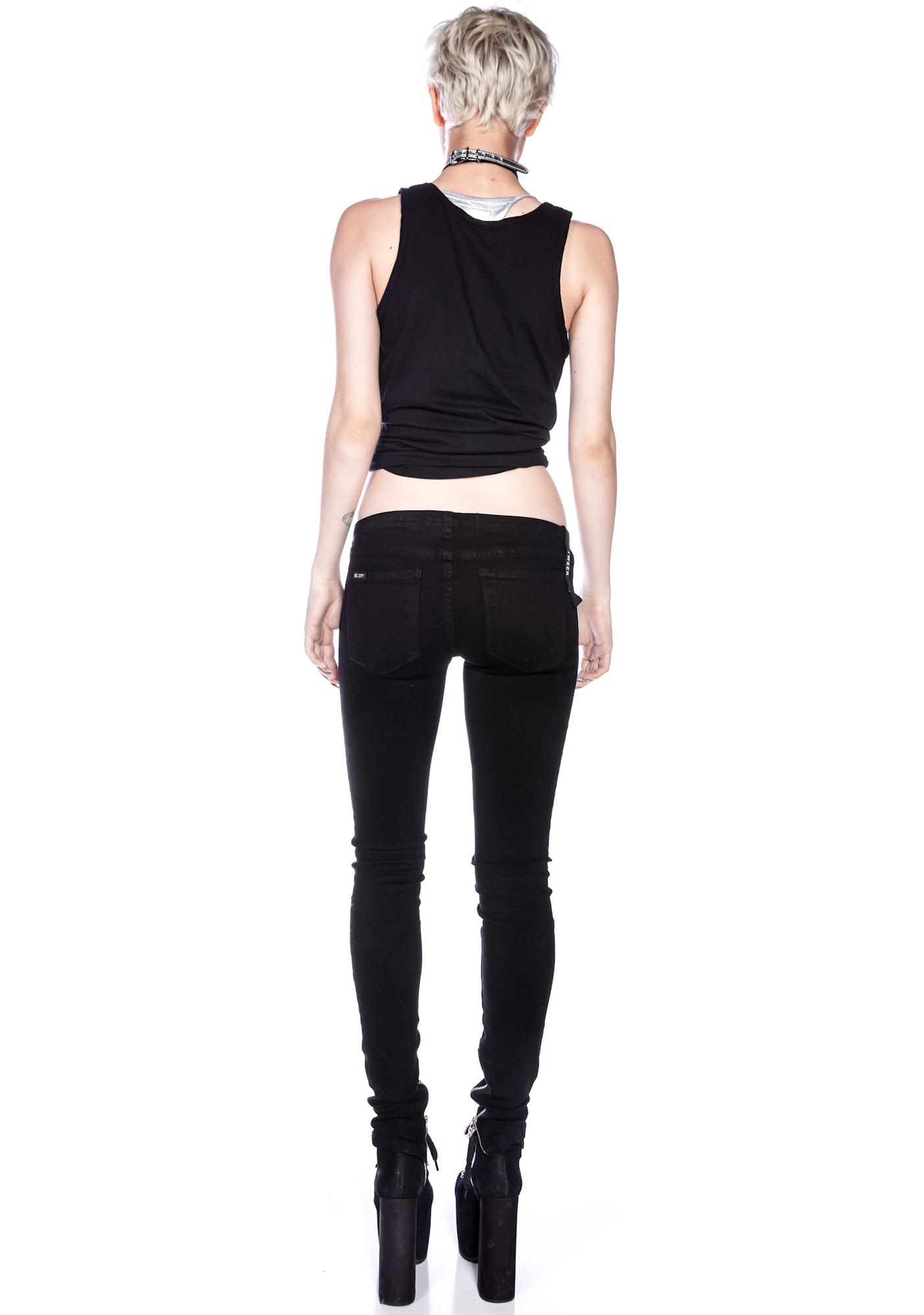 Kill City Tweek-Crack Attack Super Low Rise Stretch Twill Pants